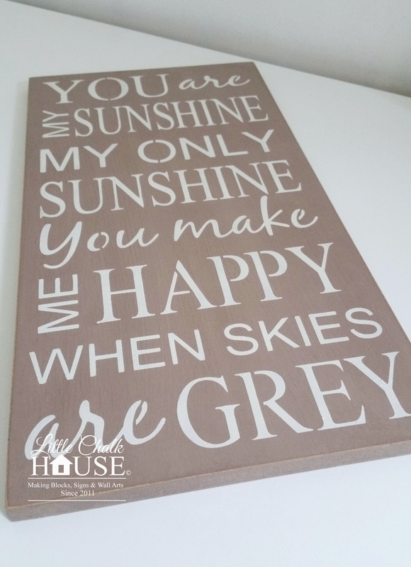 You Are My Sunshine, Wall Art - Little Chalk House with You Are My Sunshine Wall Art