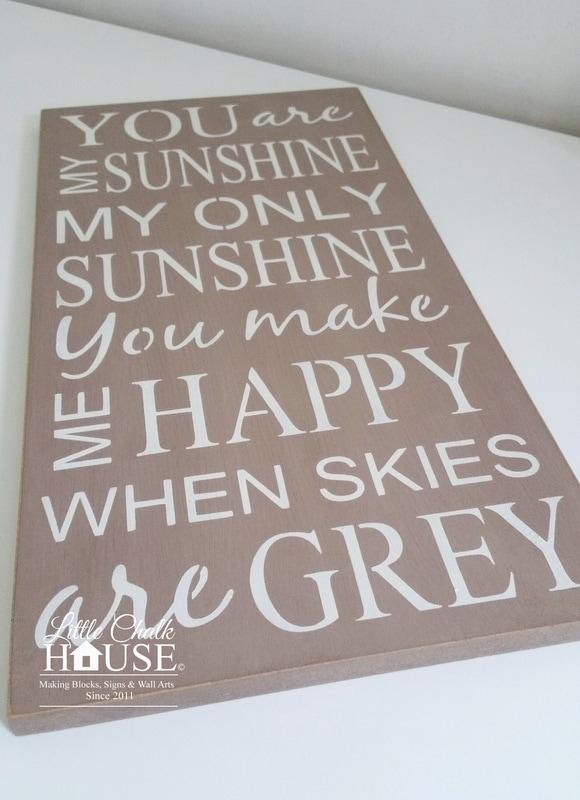 You Are My Sunshine, Wall Art – Little Chalk House With You Are My Sunshine Wall Art (Image 9 of 10)