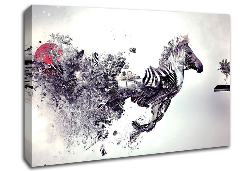 Zebra Canvas Art | Wallartdirect.co.uk with regard to Zebra Canvas Wall Art