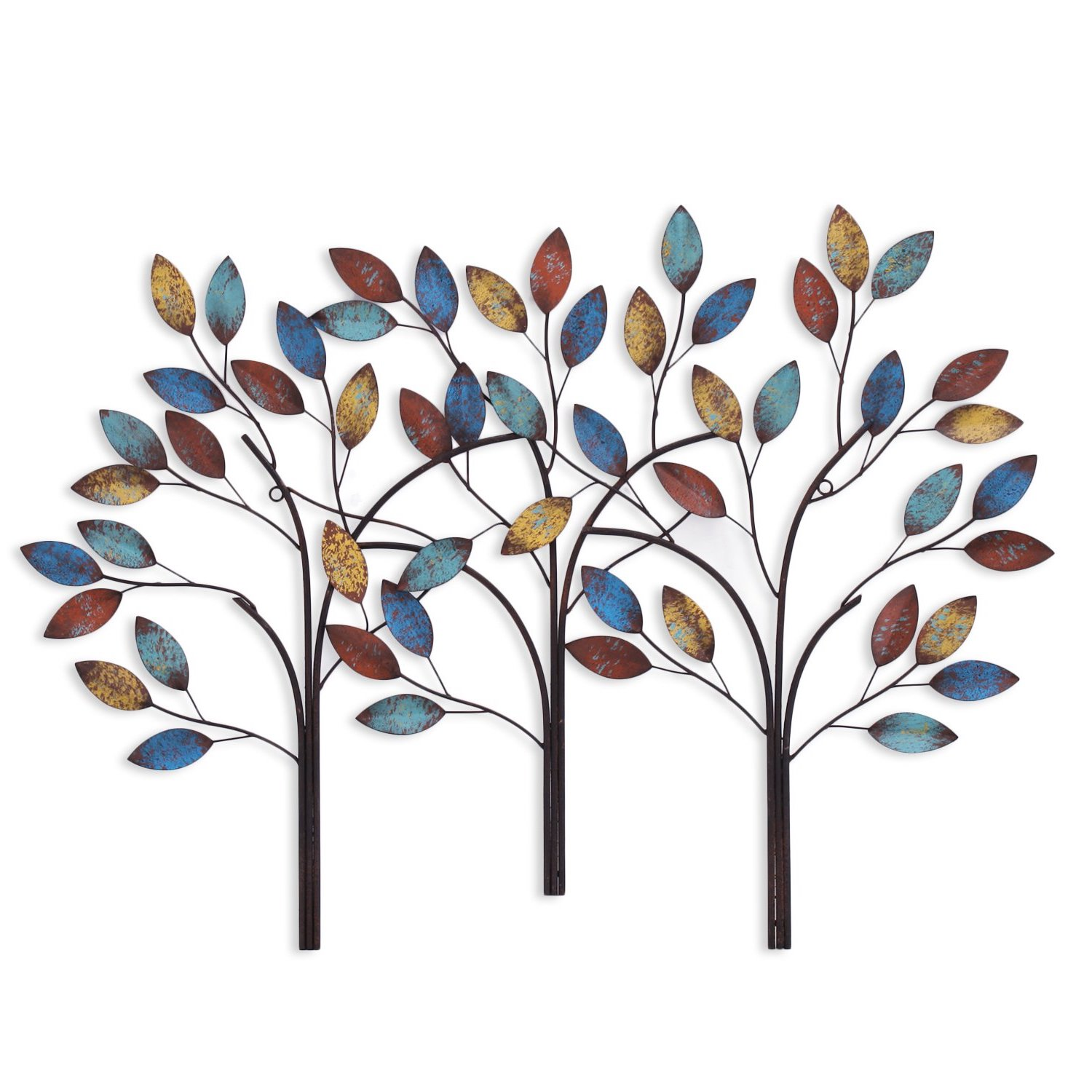 Asense Tree Of Life Metal Wall Art Sculptures Home Decor Life Decoration (Image 2 of 10)