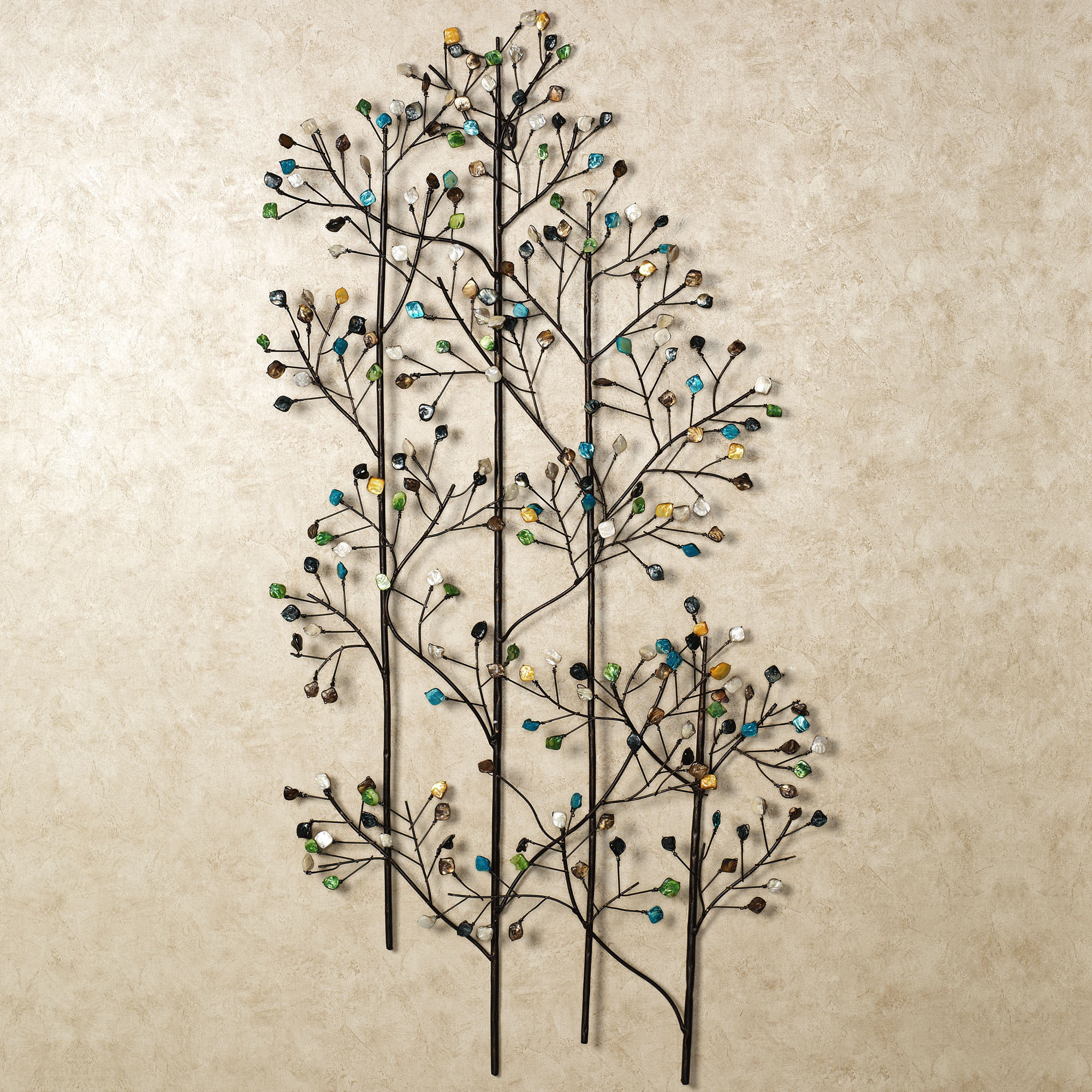 Charming Natural Plant Design For Metal Wall Art (Image 3 of 10)
