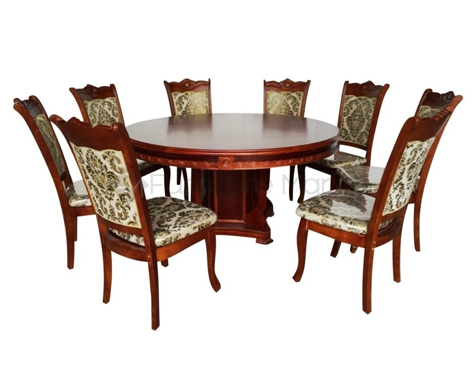 09 Round Dining Set W/ Lazy Susan | Home & Office Furniture Philippines Inside 8 Seater Round Dining Table And Chairs (View 25 of 25)