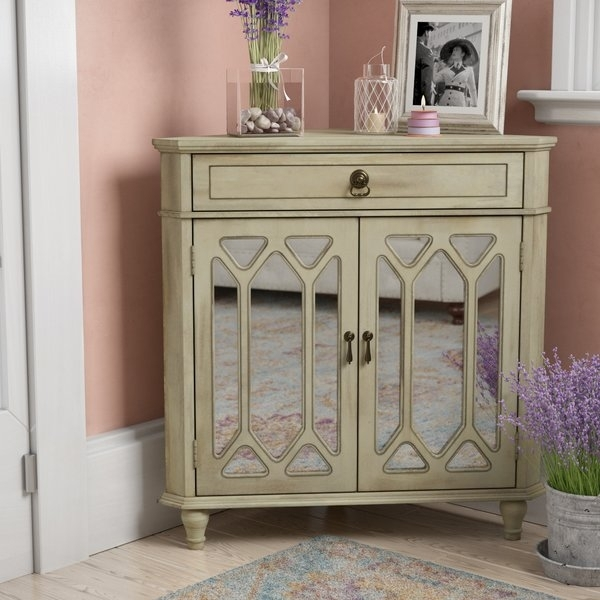 1 Drawer 2 Door Accent Cabinet | Wayfair For Carly Triangle Tables (Image 5 of 25)