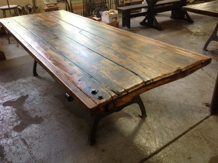1. Elegant Barn Door Table Top Traditional Dining Tables Home Design pertaining to Barn House Dining Tables
