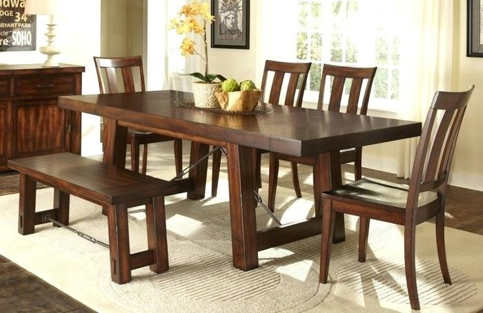 1. High Dining Table Sets Cheap Dining Room Sets With Bench Wood in Cheap Dining Tables
