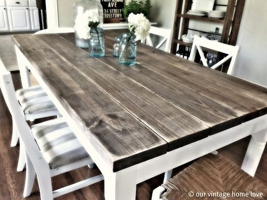 10 Diy Dining Table Ideas – Build Your Own Table | Beach House | Diy In Kirsten 6 Piece Dining Sets (Image 1 of 25)