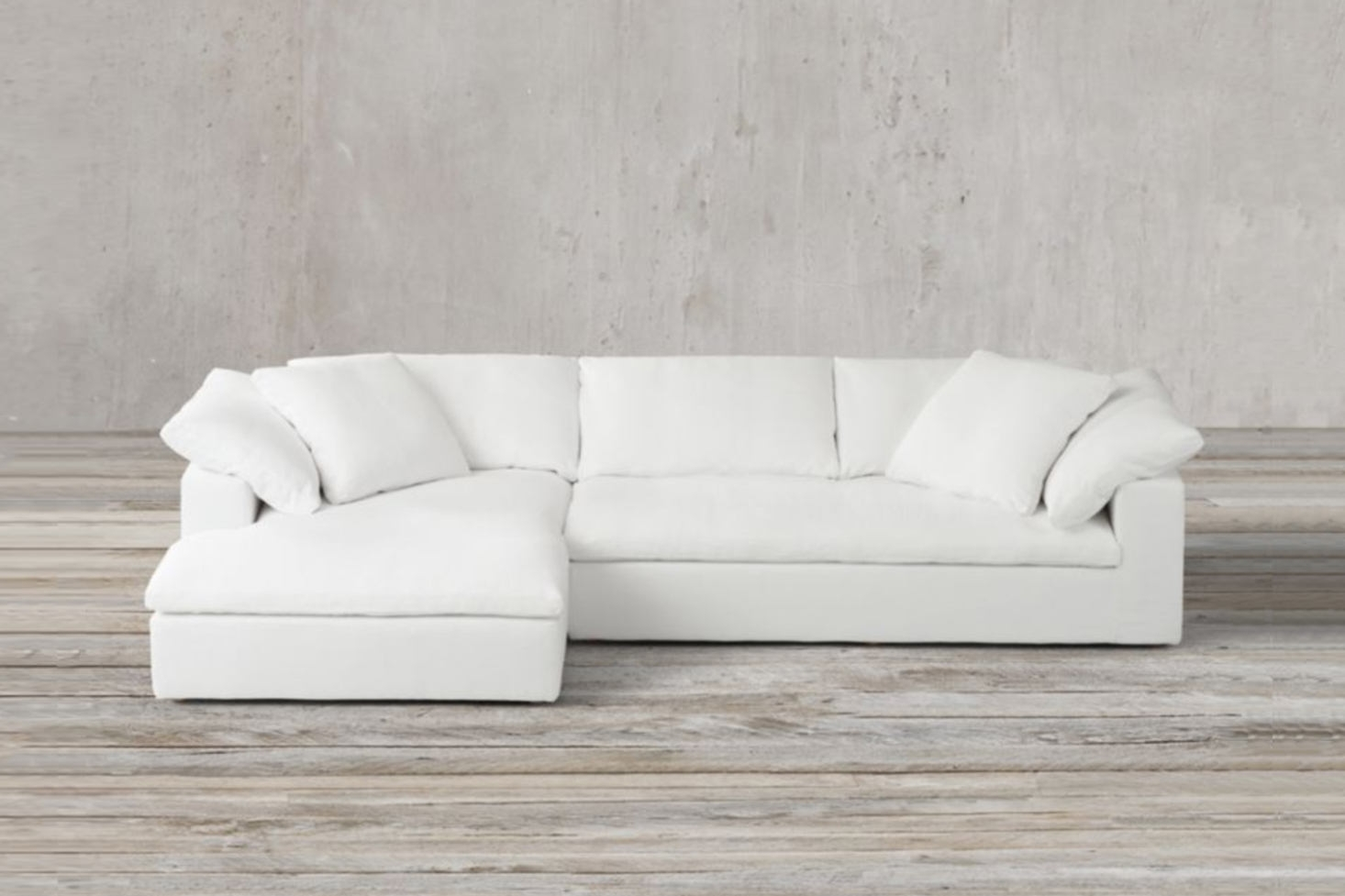 10 Easy Pieces: Sectional Chaise Sofas – Remodelista Throughout Elm Grande Ii 2 Piece Sectionals (Image 10 of 25)
