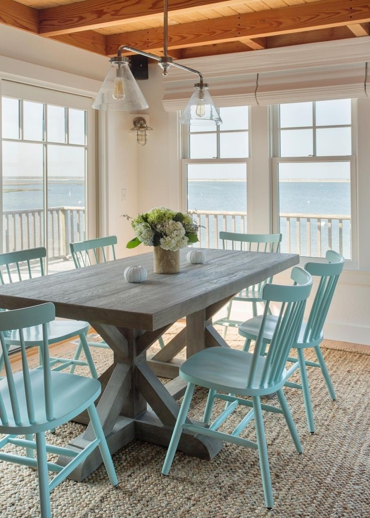 10 Furniture Pieces That Never Go Out Of Style | Happy Decor – Who's Intended For Blue Dining Tables (Image 1 of 25)