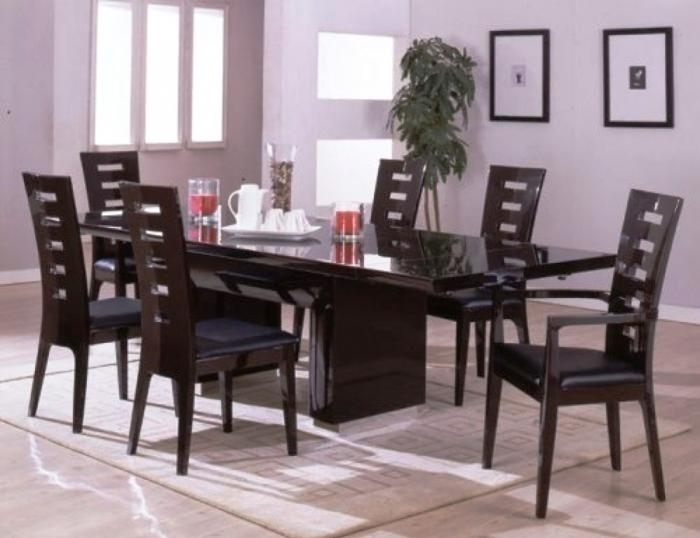 10 Modern Dining Room Sets With Awesome Upholstery – Rilane With Contemporary Dining Room Tables And Chairs (View 23 of 25)