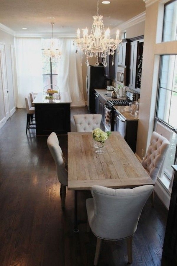 10 Narrow Dining Tables For A Small Dining Room | Home Inspo within Narrow Dining Tables