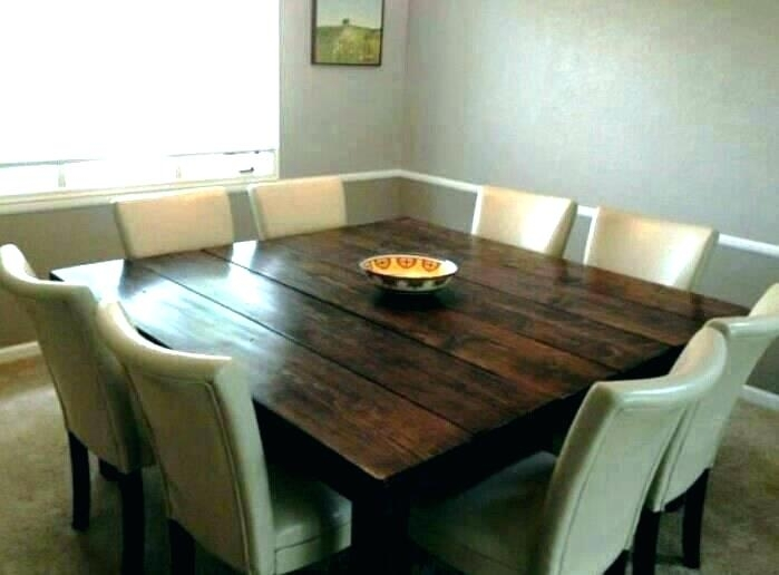 10 Person Round Dining Table Person Ning Table 8 Square Trendy Pertaining To Dining Tables For Eight (Image 1 of 25)