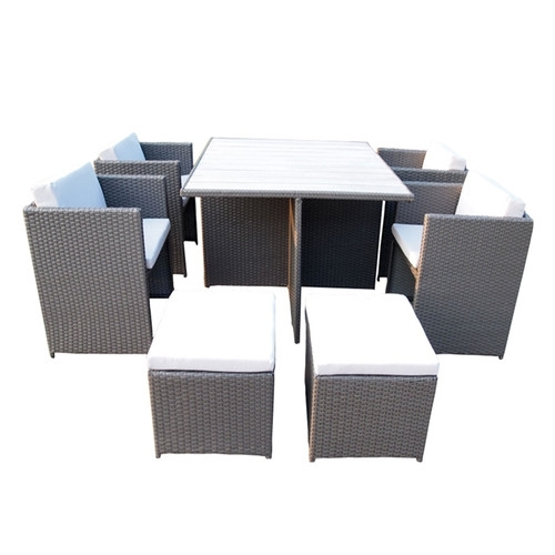 10 Piece Rio Pe Wicker Outdoor Dining Table & Chair Set | Temple Regarding Rio Dining Tables (Image 1 of 25)