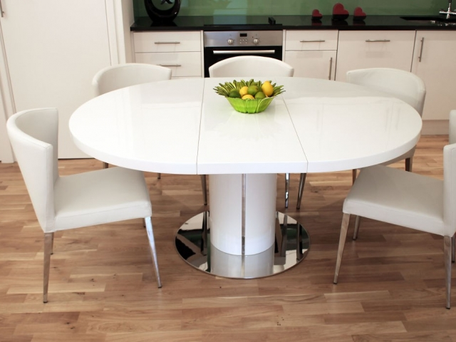 10 Seat Round Extendable Dining Table Best Modern Furniture Circular Pertaining To Extending Dining Table With 10 Seats (Image 1 of 25)
