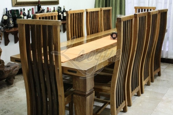 10 Seater Dining Table, Antique Hard Wood : Leoque Collection – One intended for 10 Seat Dining Tables And Chairs