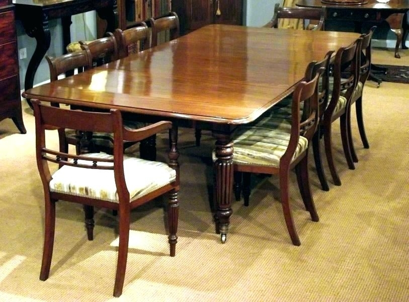 10 Seater Round Oak Dining Table 8 Extending Antique Magnificent Throughout Extending Dining Table With 10 Seats (Image 2 of 25)