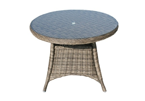 100Cm Mayfair Round Dining Table With 4 Dining Chairs – Garden Throughout Mayfair Dining Tables (Image 1 of 25)