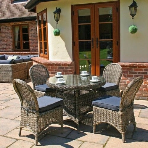 100Cm Mayfair Round Dining Table With Dining Chairs | Garden Inside Mayfair Dining Tables (Image 2 of 25)