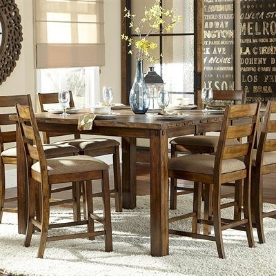 11 Best Kitchen Table Images On Pinterest | Kitchen Desks, Kitchen Inside Candice Ii 7 Piece Extension Rectangular Dining Sets With Slat Back Side Chairs (Photo 15 of 25)