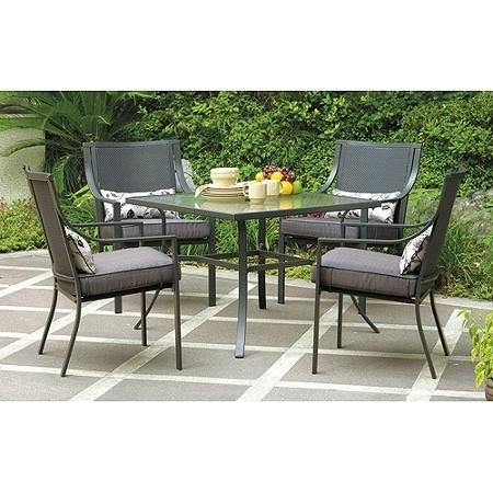 11 Best Outdoorsy Images On Pinterest | Patio Dining Sets, Backyard With Regard To Lassen 5 Piece Round Dining Sets (Image 1 of 25)
