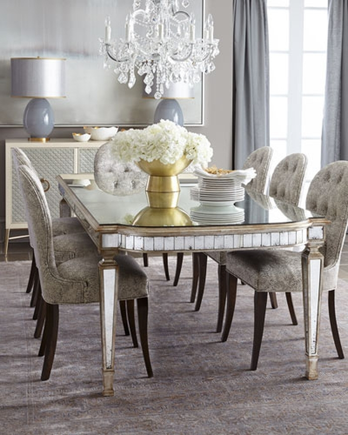 11. Modern Mirrored Dining Table Mirrored Dining Room Table Freedom To intended for Mirrored Dining Tables