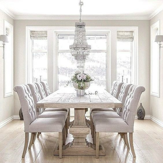 11 Spring Decorating Trends To Look Out | Home | Pinterest | Dining Inside White Dining Tables Sets (Photo 8 of 25)