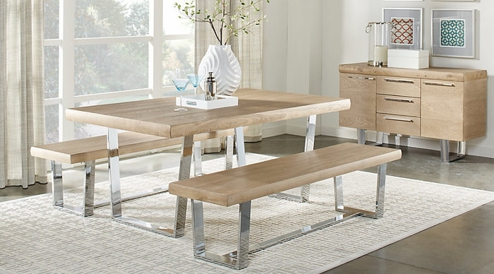 12. Cindy Crawford Home San Francisco Ash 3 Pc Dining Room Dining Regarding Crawford 7 Piece Rectangle Dining Sets (Photo 15 of 25)