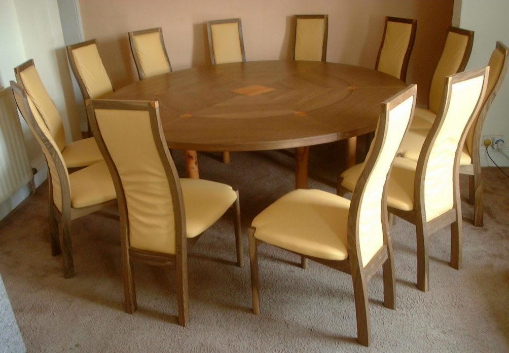 12-Seater-Expanding-Circular-Dining-Table for Circular Oak Dining Tables