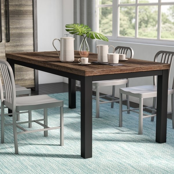 120 Inch Dining Table | Wayfair throughout Craftsman 9 Piece Extension Dining Sets