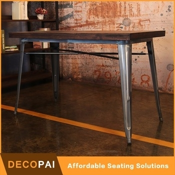 120X60 Bordered Desktop Elm Wood And Iron Dining Table – Buy Dining Inside Dining Tables 120X60 (Photo 6536 of 7746)