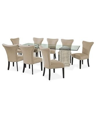 13 Best Dining Room Images On Pinterest | Table Settings, Dining With Regard To Palazzo 9 Piece Dining Sets With Pearson White Side Chairs (Image 1 of 25)
