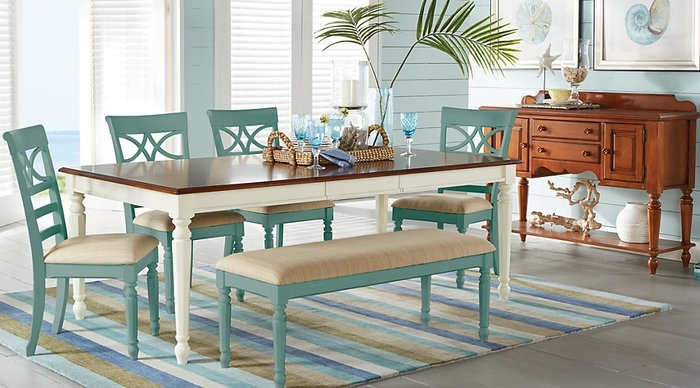 13. Cindy Crawford Home Ocean Grove White 5 Pc Rectangle Dining Room inside Crawford 6 Piece Rectangle Dining Sets