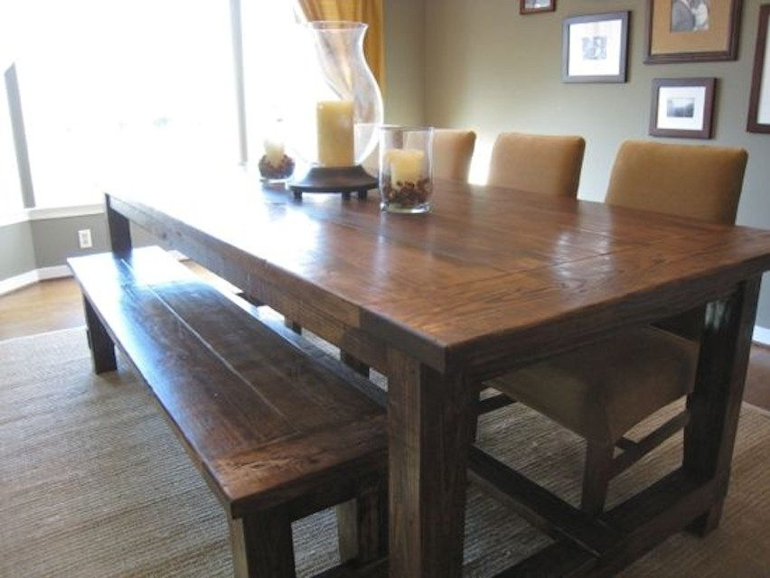 13 Free Diy Woodworking Plans For A Farmhouse Table Throughout Barn House Dining Tables (Image 2 of 25)