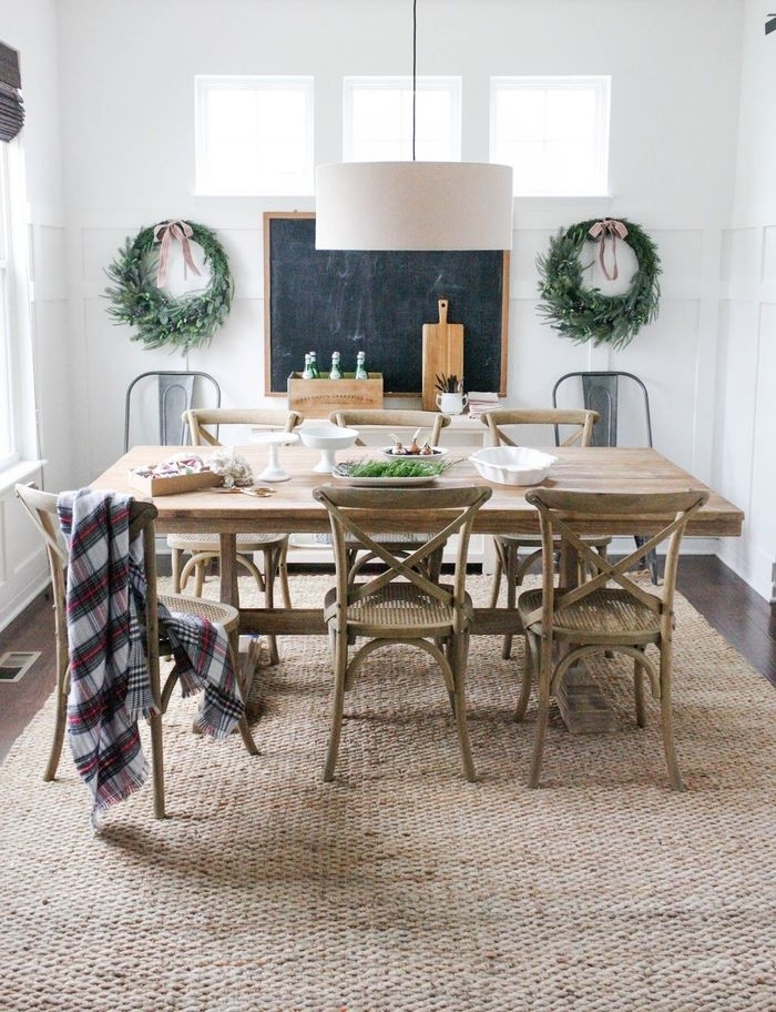 13. Jute Rug From Rugs Usa Dining Table From World Market Chairs intended for Market Dining Tables
