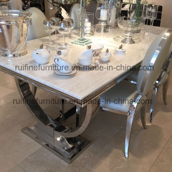 13. Limitless Home Round Dining Set With 4 White Chairs Amazon Co Uk For Chrome Dining Sets (Photo 15 of 25)