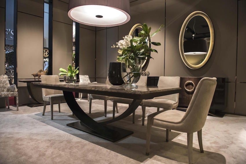 13 Modern Dining Tables From Top Luxury Furniture Brands | Ev Within Contemporary Dining Tables (Image 1 of 25)