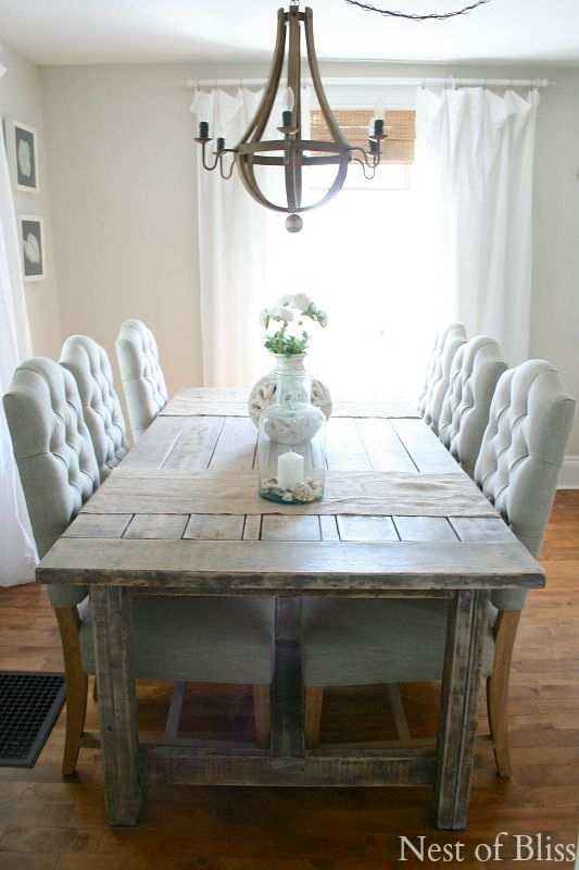 13. Nice Farmhouse Dining Table And Chairs 25 Best Farmhouse Dining For Farm Dining Tables (Photo 8 of 25)