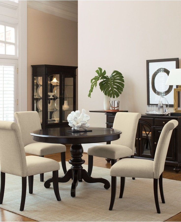 14 Best Painted Dining Room Table Images On Pinterest | Kitchen Inside Macie 5 Piece Round Dining Sets (Image 1 of 25)