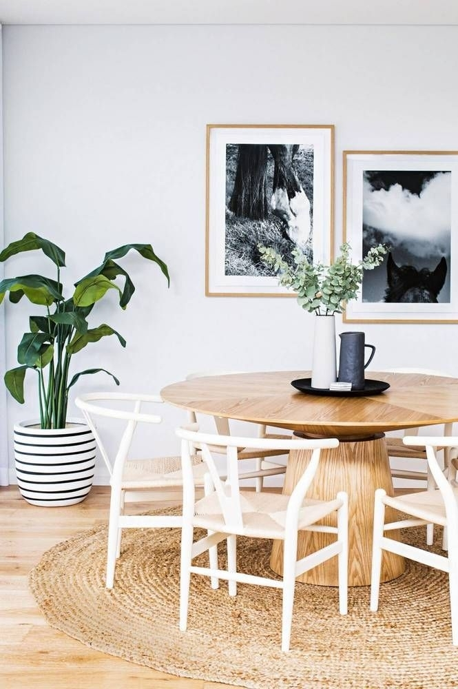 14 Rooms That Will Inspire You To Try A Round Rug | Home - Dining for Lassen 5 Piece Round Dining Sets
