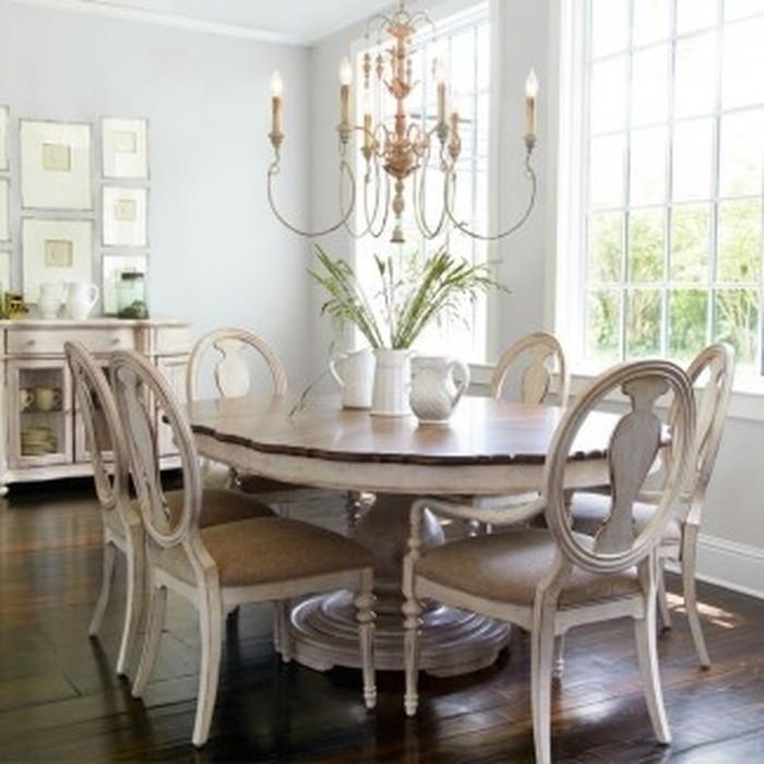 14. Shabby Chic Dining Table Visual Hunt Inside Shabby Chic Dining Sets (Photo 19 of 25)