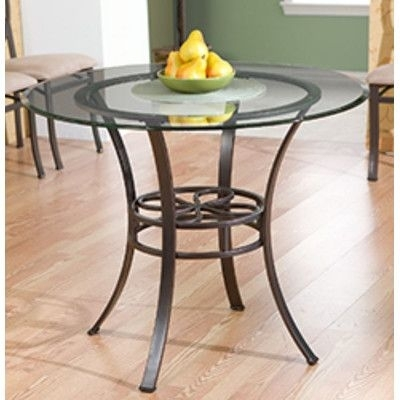 15 Best Glass Table Images On Pinterest | Round Glass, Glass Dining Throughout Palazzo 6 Piece Dining Set With Mindy Slipcovered Side Chairs (Image 3 of 25)