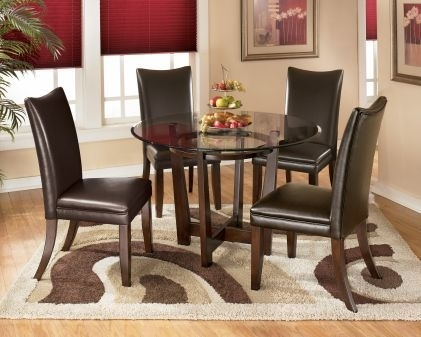 15 Best Glass Table Images On Pinterest | Round Glass, Glass Dining With Regard To Palazzo 6 Piece Dining Set With Mindy Slipcovered Side Chairs (Image 4 of 25)