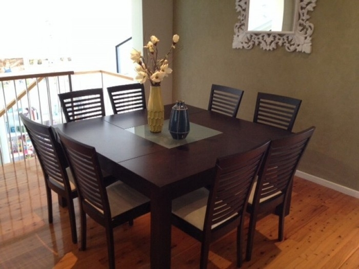 15. Brown 8 Seater Dining Table Set in 8 Seater Black Dining Tables