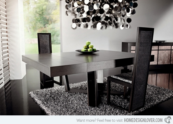 15 Charming Square Dining Room Tables | Home Design Lover With Regard To Dark Wood Square Dining Tables (Image 1 of 25)