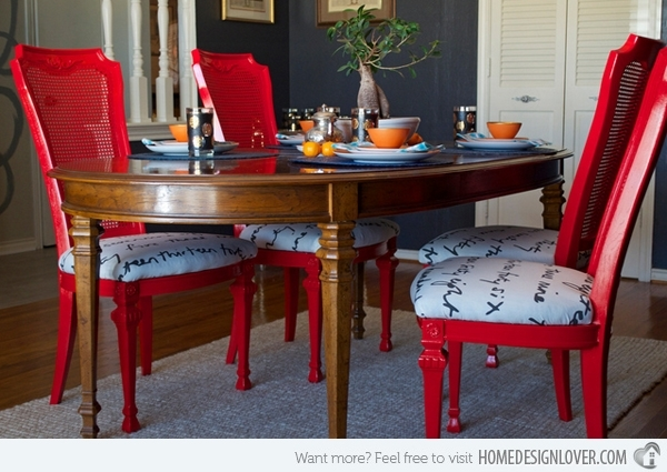15 Dining Room Designs With A Red Touch | Home Design Lover Pertaining To Red Dining Tables And Chairs (View 2 of 25)