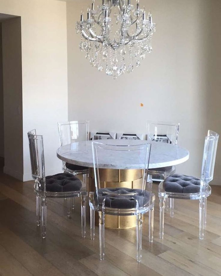15 Gorgeous Ghost Chairs   Furniture We Love   Pinterest   Dining Inside Acrylic Dining Tables (Image 1 of 25)