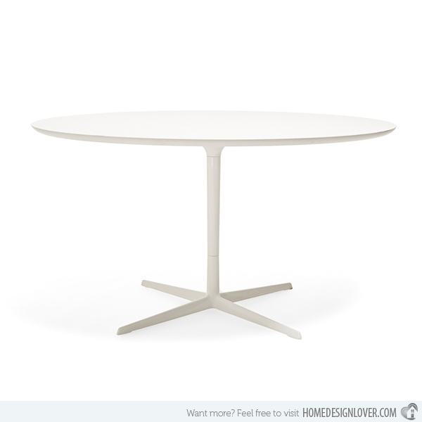 15 Lovely Circular White Dining Tables | Home Design Lover Within Round White Dining Tables (View 12 of 25)