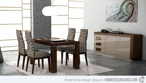 15 Sophisticated Modern Dining Room Sets | Home Design Lover With Regard To Modern Dining Room Furniture (View 25 of 25)