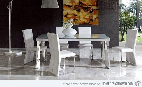 15 Sophisticated Modern Dining Room Sets | Home Design Lover With Regard To Modern Dining Sets (Image 2 of 25)