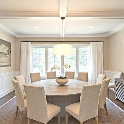 15 Stunning Round Dining Room Tables | House Hunting | Pinterest Pertaining To Huge Round Dining Tables (Image 1 of 25)