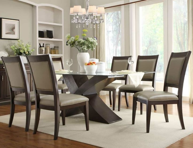 15 Stylish Dining Table And Chairs – Always In Trend | Always In Within Glass Dining Tables Sets (View 13 of 25)